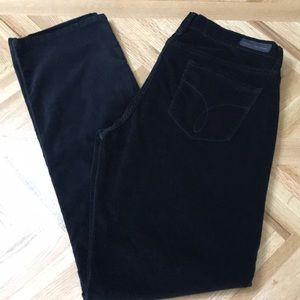 Calvin Klein Straight Leg corduroy black  size 14